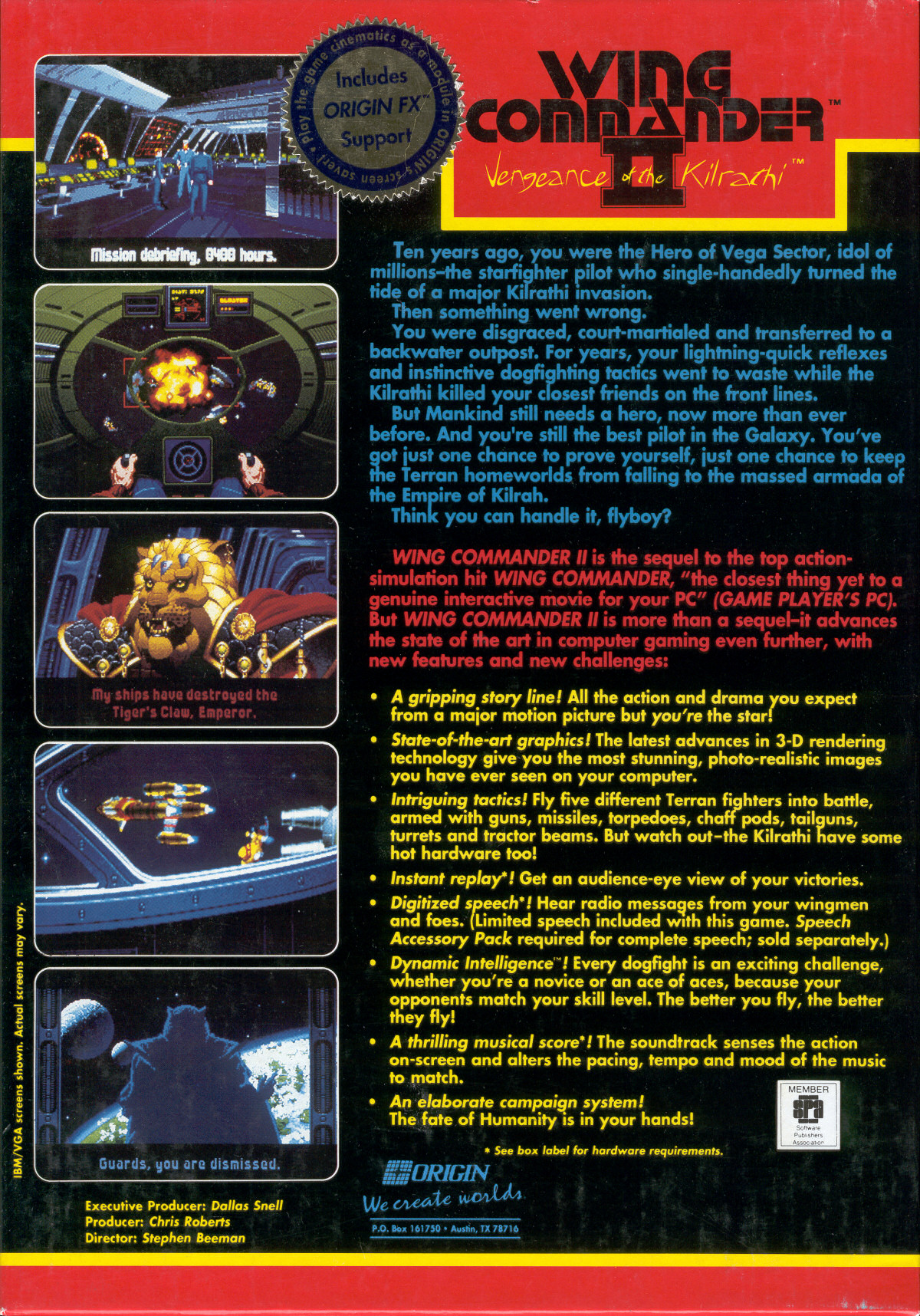 Wing Commander Ii Vengeance Of The Kilrathi Series Background