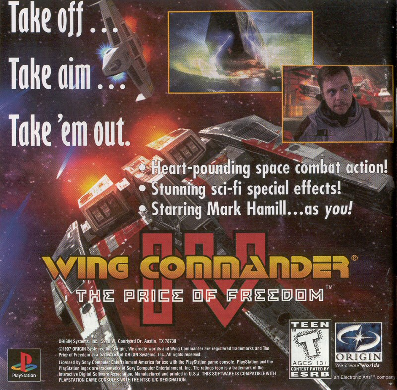 Breaking News Wing Commander Iv On Psn December 23 2009