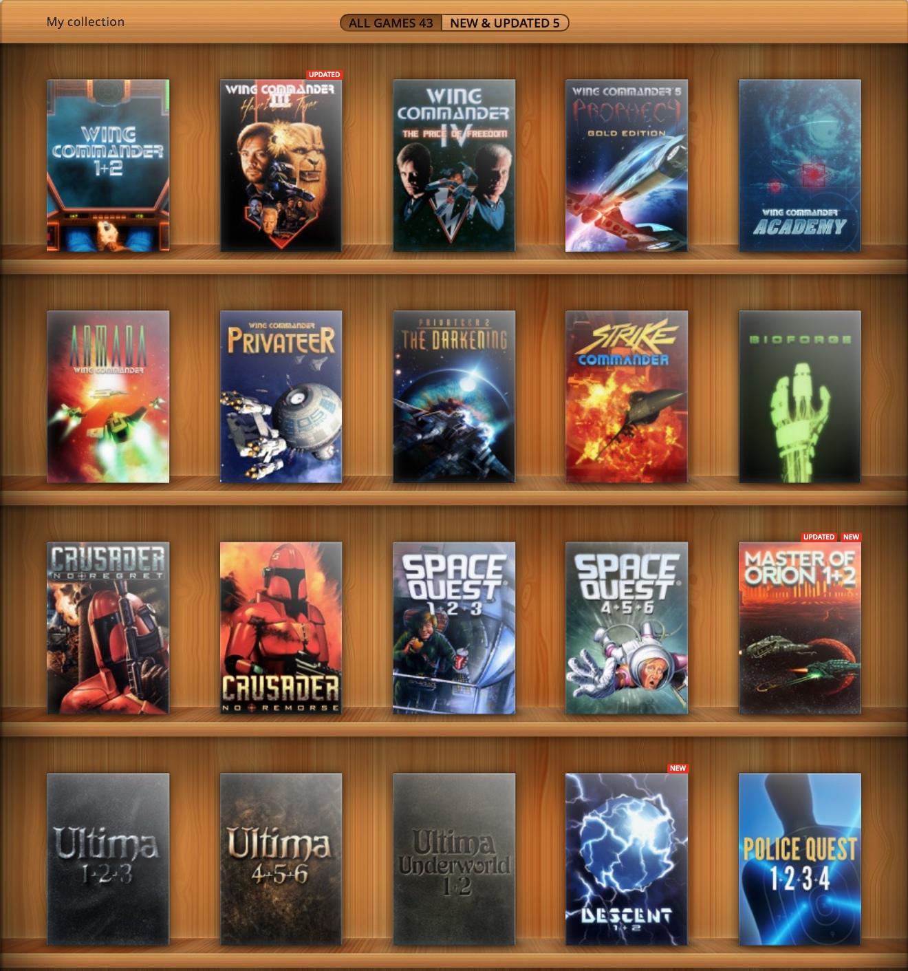 GOG Discounts EA Games by 60-85% - Wing Commander CIC