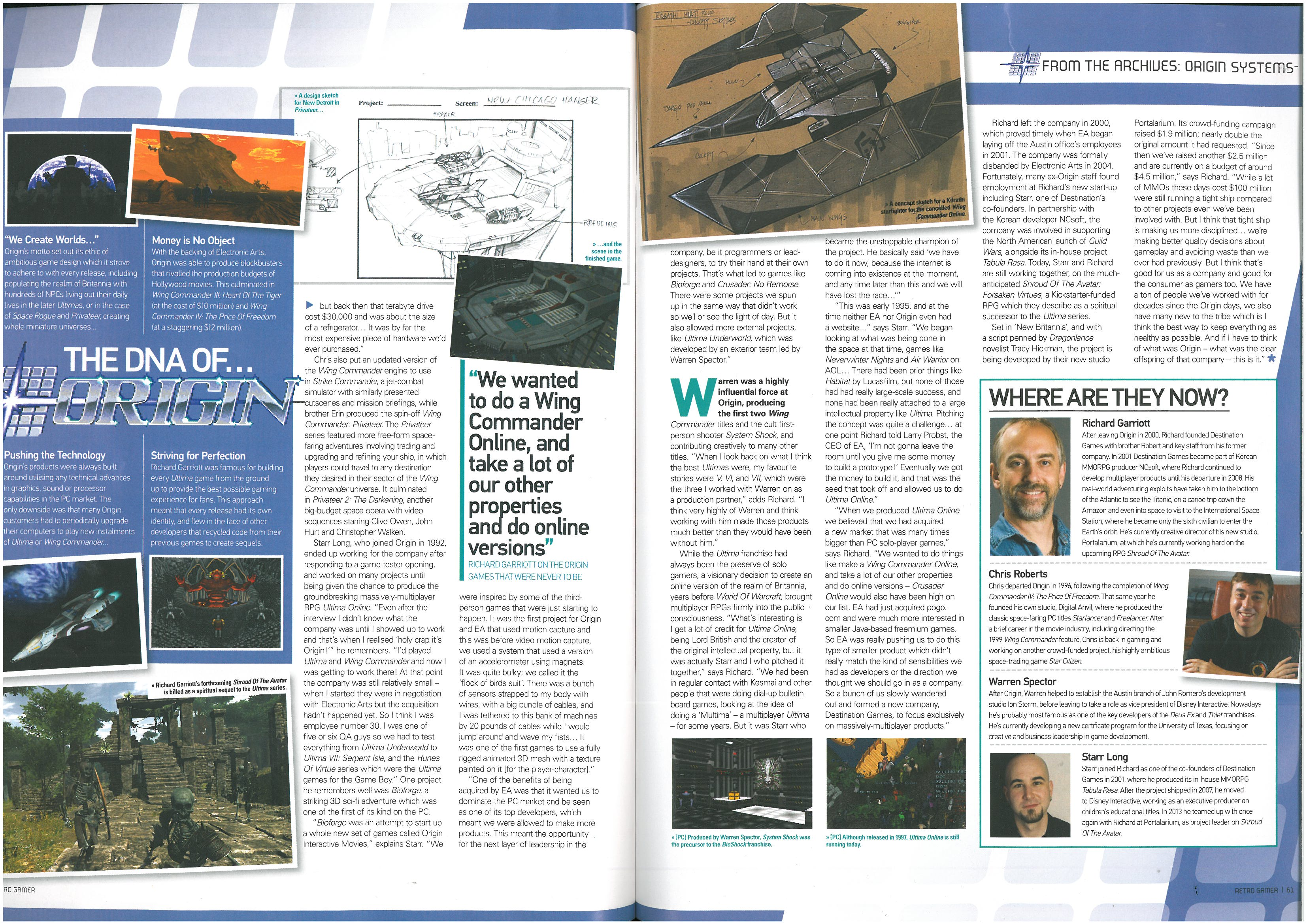 Retro Gamer Tells The Story Of OSI - Wing Commander CIC