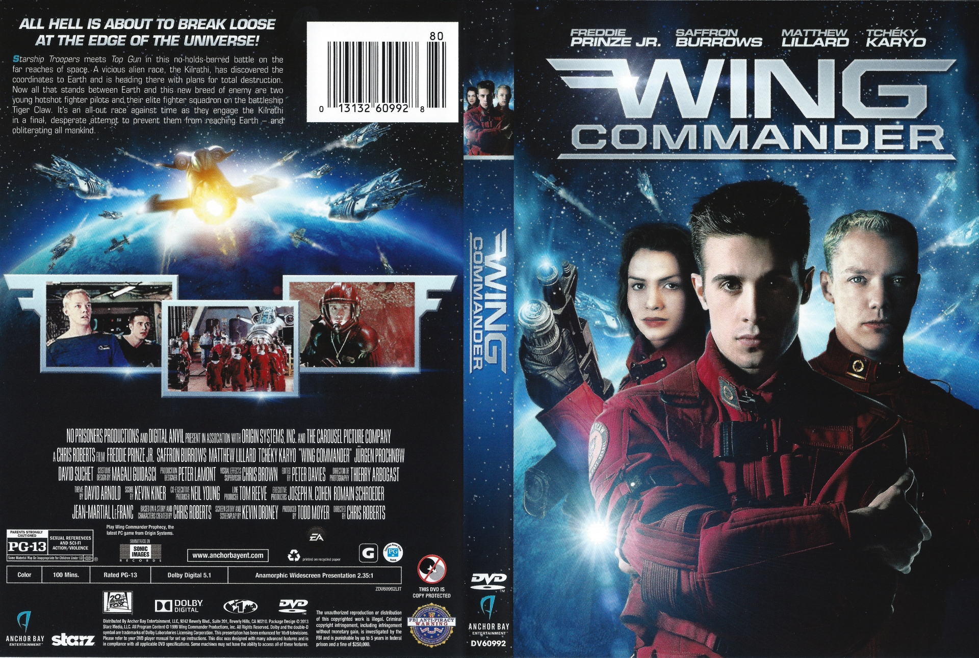 wing commander blu ray dvd 2013 review wing commander cic